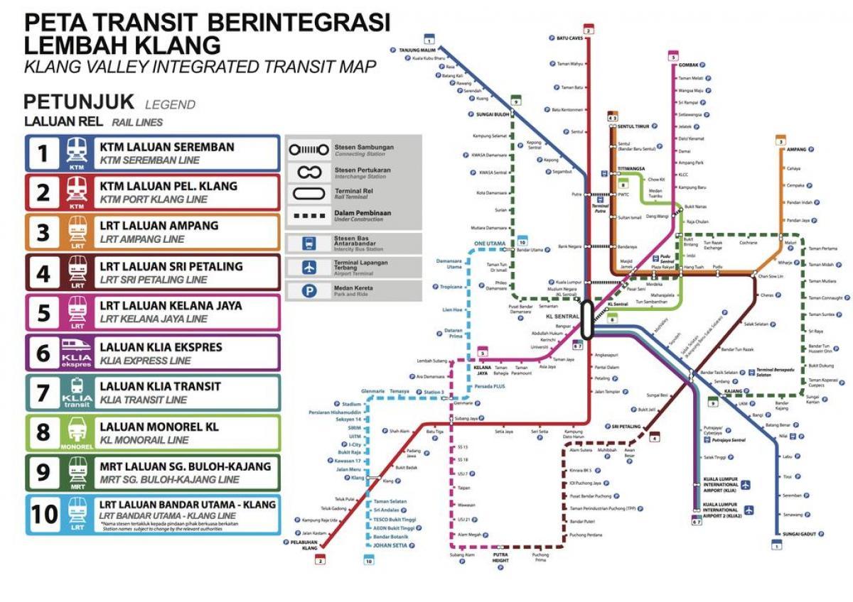 Kl Julkisen Liikenteen Kartta Julkinen Liikenne Kartta Kuala