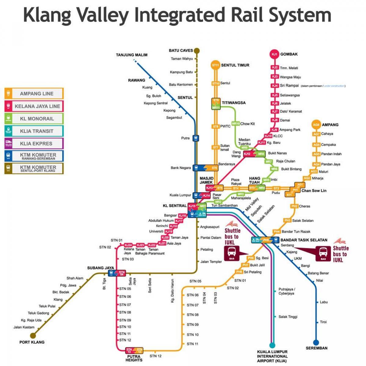 Kl Rail Map Kl Integroitu Rautatie Kartta Malesia
