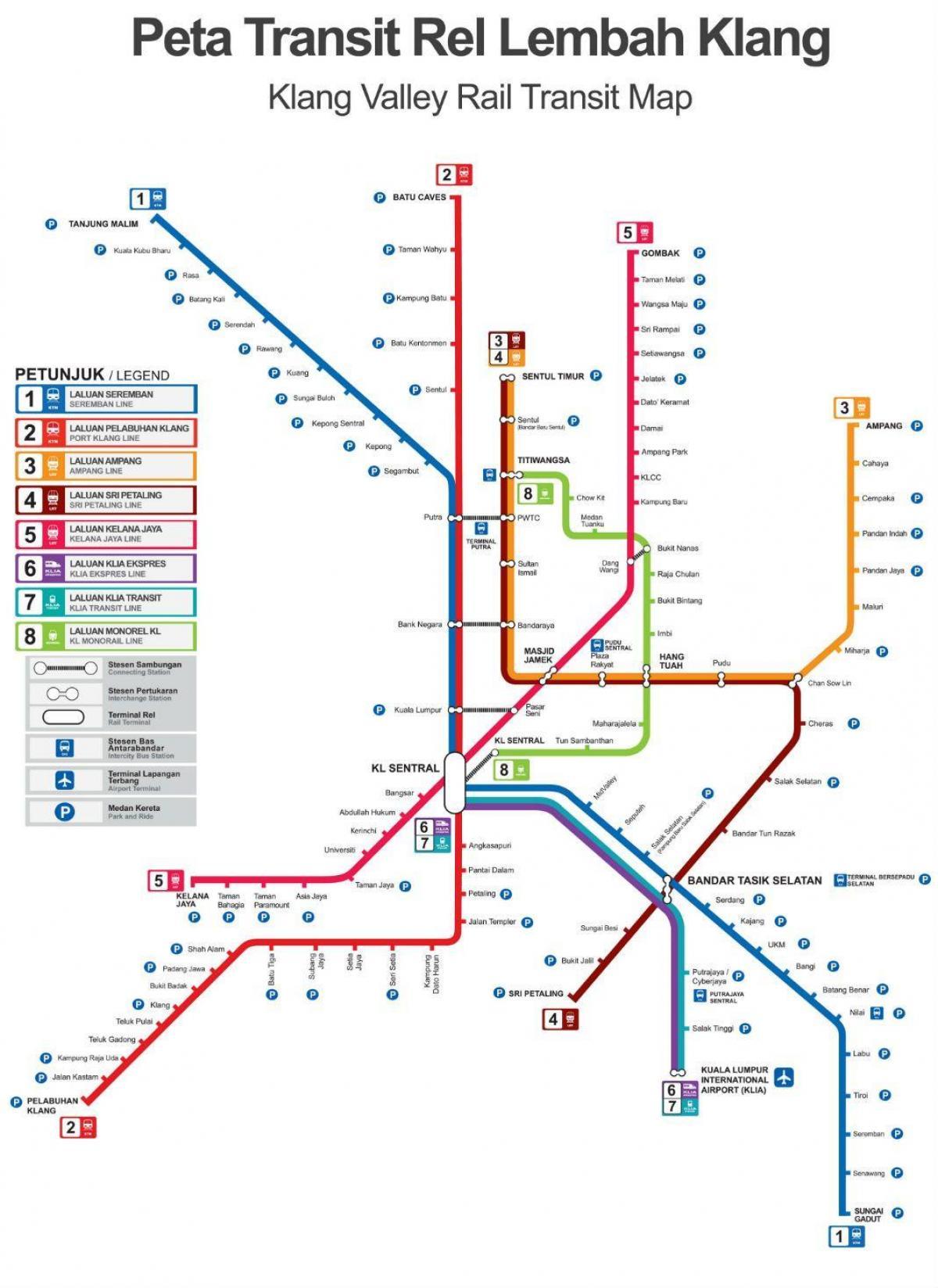 Kl Juna Asema Kartta Kuala Lumpurin Juna Asema Kartta Malesia